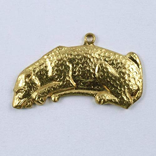 1 Inch Gold Leopard Charm ()