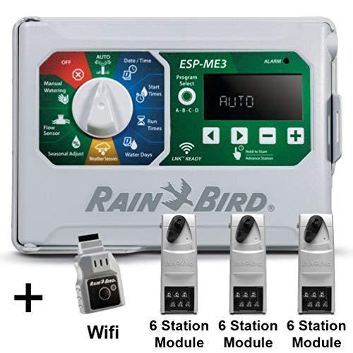 12 Station Indoor Controller - Rain-Bird Controller Indoor Outdoor Lawn Irrigation Sprinkler Timer ESPME3 (+ WiFi + 3 Modules)