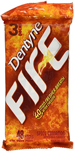 Dentyne Fire Sugar Free Gum Spicy Cinnamon - 3 PK