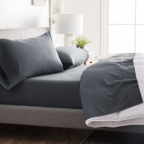 BROOKSIDE - Microfiber Sheet Set - Soft and Cozy - Hypoallergenic - Easy Care Fabric - Stain and Wrinkle Resistant - Split Queen - - Fitted Care Sheet Easy