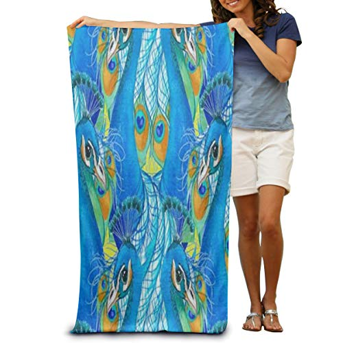 OuLian Yoga Towel Peacock and Rooster Fabulous Microfiber Absorbent Print Gym Towels for Women