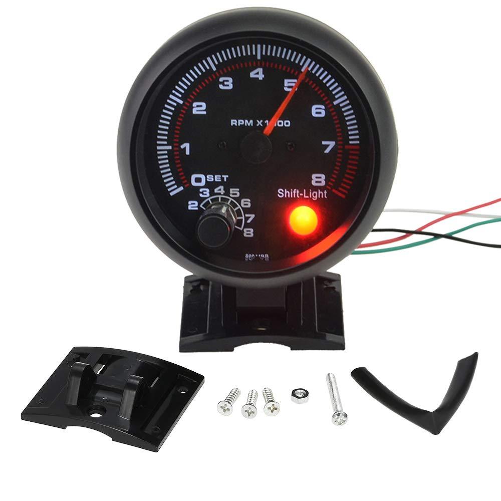 MeiBoAll Car Tachometer, 3.75' 12V 0-8000 RPM Universal Tachometer Gauge Car Modification Instrument 3.75 12V 0-8000 RPM Universal Tachometer Gauge Car Modification Instrument S0I8FTBE1652FW11GG3IQI
