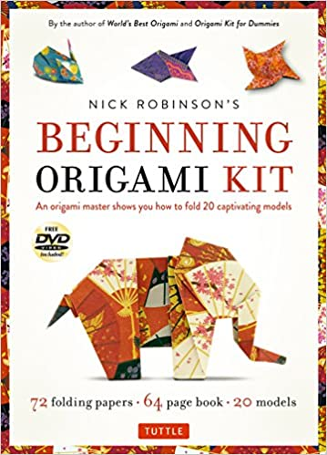 Amazon Nick Robinsons Beginning Origami Kit An Master Shows You How To Fold 20 Captivating Models With Book 72 High Quality