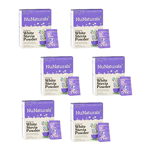 (NuNaturals Nustevia White Stevia Powder, 100 Count (6-Pack))