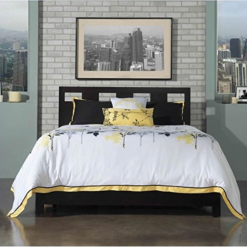 Modus Furniture Nevis Full Size Riva Platform Storage Bed in Espresso - King Nevis Platform Bed