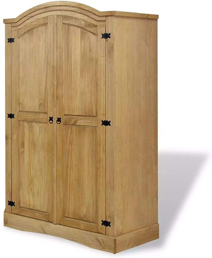 Vislone Armario Closet Organizador de Madera Maciza con 2 Puertas ...