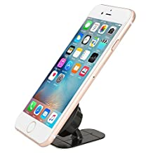 Car Mount, iKross Universal Magnetic Smartphone Dashboard Mount Holder For iPhone 6s Plus 6s SE, Samsung Galaxy S7 Edge S6 Edge Note 5, LG G5 - Black