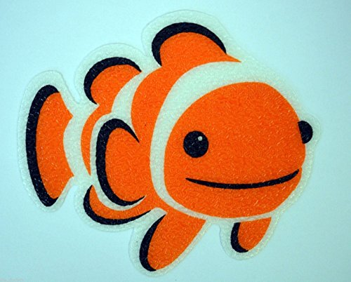 (Clownfish) New Clown Fish Bathtub Bath Tub Treads Non Slip Appliques Stickers Bathroom Mat