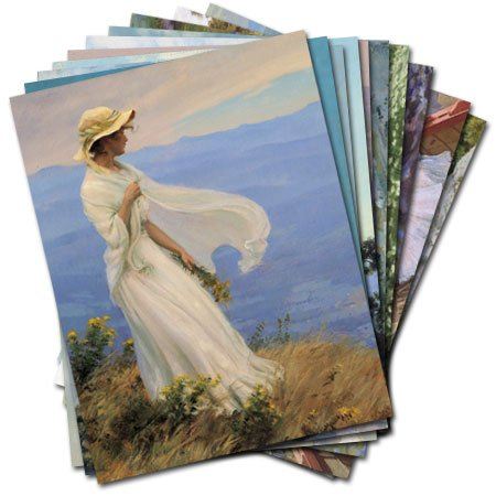 UPC 798925003632, Charles Courtney Curran - Box Set of 12 Assorted Greeting Cards and Patterned Envelopes