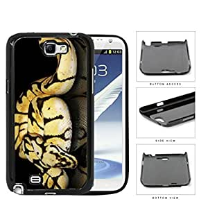 Ball Python Snake On Mirrored Surface Hard Plastic Snap On Cell Phone Case Samsung Galaxy Note 2 II N7100 hjbrhga1544