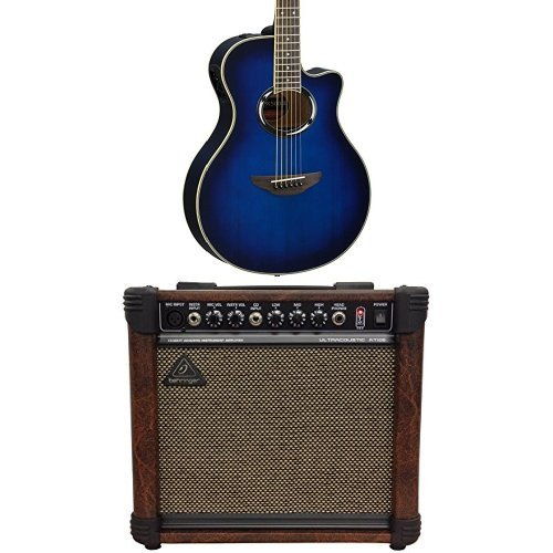 yamaha-apx500iii-obb-thinline-acoustic-electric-cutaway-guitar-oriental-blue-burst-and-behringer-ult