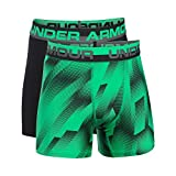 Under Armour Boys' Original Series Boxerjock Novelty 2-Pack, Vapor Green/Black, Youth Large