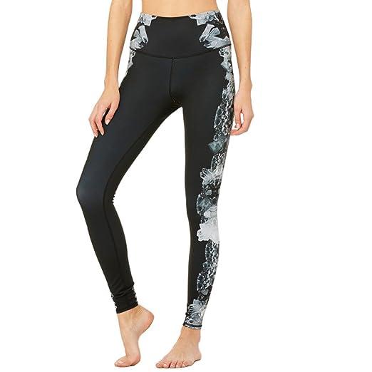1b5ac898d2 Alo Yoga Women's High-Waist Airbrush Legging - Print (XX-Small, Dark ...