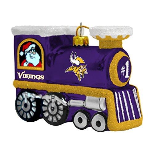 (NFL Minnesota Vikings Blown Glass Train)