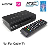 MiiU (TM) ATSC Tuner Digital TV Converter Box and Media Player w/ Recording PVR Function / HDMI Out / Coaxial Out / Composite Out / USB Input