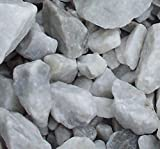 Safe & Non-Toxic {Various Sizes} 29 Pound Bag of Prewashed Marble Gravel, Rocks, Stones & Pebbles Decor for Freshwater & Saltwater Aquarium w/ Natural Opaque Earthy Modern Edgy Style [Gray & White]