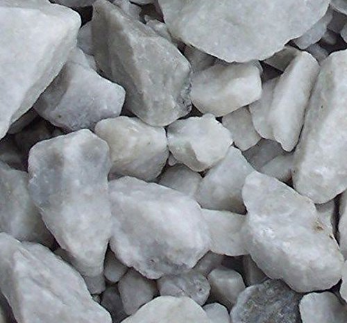 Safe & Non-Toxic {Various Sizes} 29 Pound Bag of Prewashed Marble Gravel, Rocks, Stones & Pebbles Decor for Freshwater & Saltwater Aquarium w/ Natural Opaque Earthy Modern Edgy Style [Gray & White] by mySimple Products