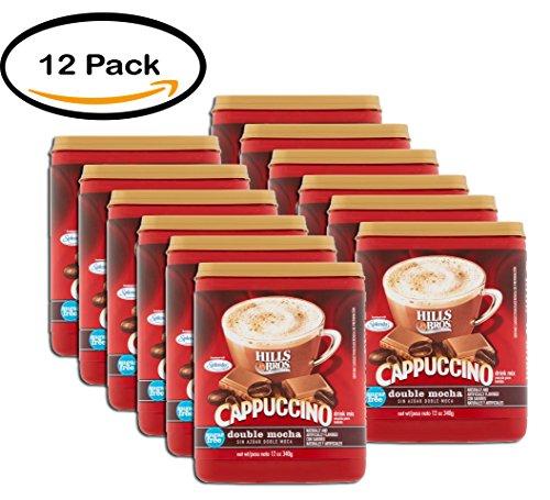 (PACK OF 12 - Hills Bros Sugar Free Double Mocha Cappuccino Beverage Mix, 12 oz)