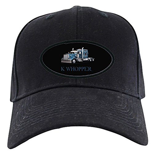 CafePress - Trucker Hats &Amp; Caps Black Cap - Baseball Hat, Novelty Black (Amp Mesh Hat)