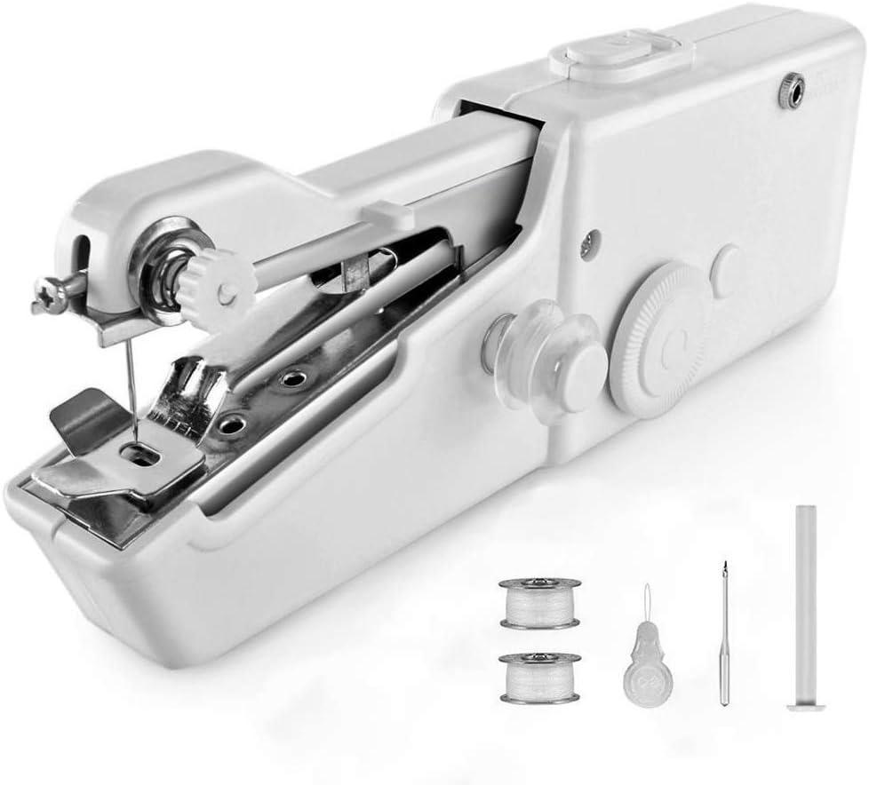 Máquina De Coser, Portátil Mini Máquina De Coser A Mano Quick Handy Stitch Costura Agujas Ropa Inalámbricas Máquinas Household Máquina De Coser Eléctrica