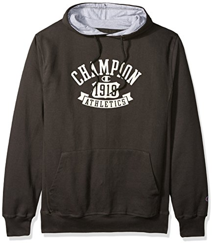 - Champion Men's Big and Tall Po Screen Printed Fleece Hd W/c Lfe SLV, Grey Scarf, 3X