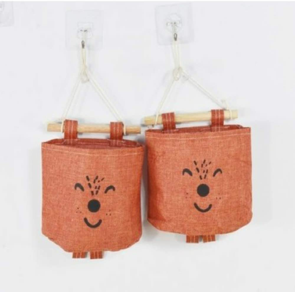 YOUYUANF Almacenamiento Bags For Small Things, Cotton, Linen Cloth, Paper Towels, Storage Bags, Dormitory Hanging Wall Storage