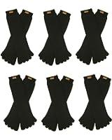 RSG Hosiery Men's & Women's Toe Socks 6 or 12 Pack (Crew Or Shorties Length)