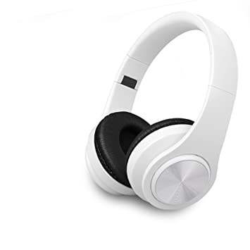 MLL Auriculares Bluetooth Auriculares inalámbricos Deporte Auriculares Auriculares Ordenador Teléfono Universal,Blanco