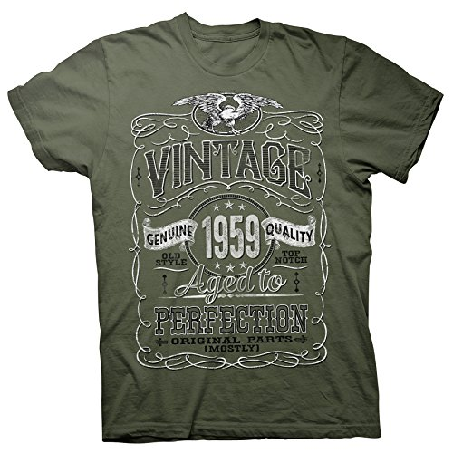 60th Birthday Gift Shirt - Vintage Aged to Perfection 1959 - Military-002-Lg