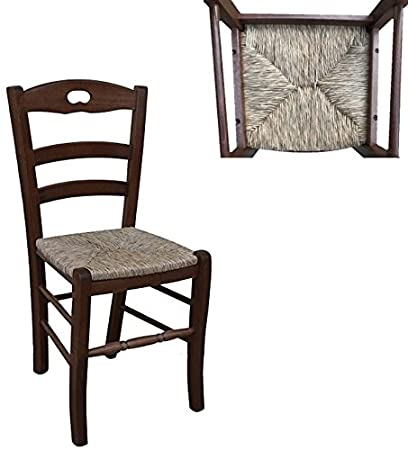 Sedia in legno massello seduta in Paglia ristorante casa già montata ...