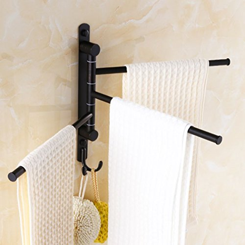Ello Allo Oil Rubbed Bronze Swing Out Towel Racks For Bathroom Import It All
