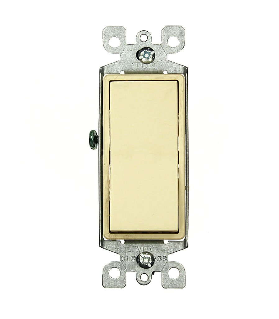 Leviton 5603-2T 15 Amp, 120/277 Volt, Decora Rocker 3-Way AC Quiet ...