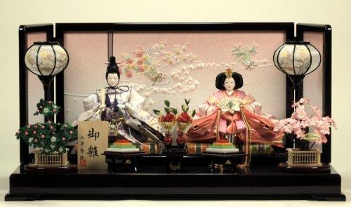 雛人形 ひな人形 お雛様 『桜重ね雛』 【雛人形 親王飾り】【ひな人形 雛人形】【雛人形】【雛人形 コンパクト】   B00AG5BLQ6