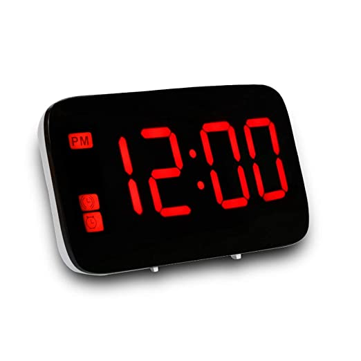 Greetuny 1pcs Reloj Despertador Digital Moda Mini Reloj LCD mesita de Noche,Voz y Toque