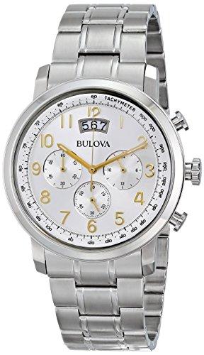 Bulova Mens 96B201XG Quartz Chronograph Gold-Tone Numerals Silver-Tone 42mm Watch ()