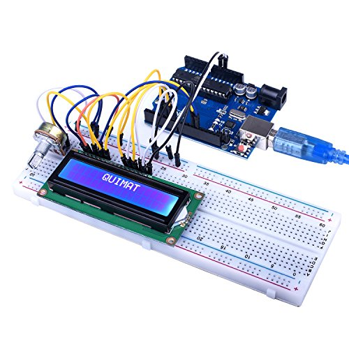 Quimat UNO R3 Project Super Starter Kit with Free Tutorial for Arduino,Complete Robotics Sensor Kit with Breadboard,Protoboard,Nano Board,5V Relay,Power Supply Module,Stepper Motor, 9V DC Battery by Quimat (Image #4)