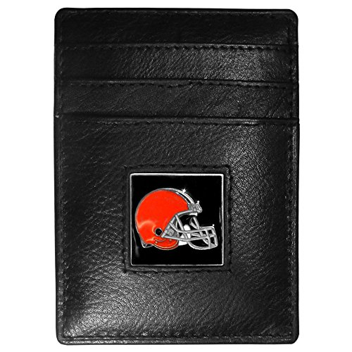 Tampa Bay Buccaneers Money Clip - NFL Tampa Bay Buccaneers Leather Money Clip/Cardholder Packaged in Gift Box, Black, Slim