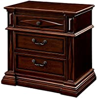 247SHOPATHOME Idf-7138N, nightstand, Cherry