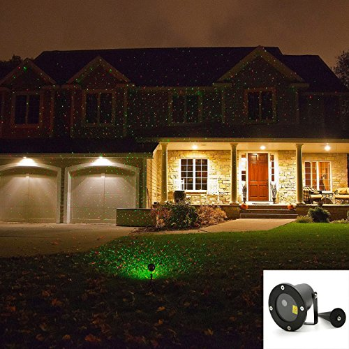 LED Waterproof Landscape Garden Laser Projector Moving Star Xmas Lawn Light R&G