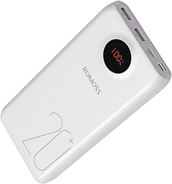 ROMOSS 20000mAh Type-C PD Portable Charger with LED Display