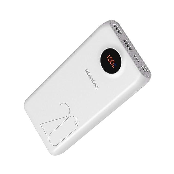 ROMOSS 20000mAh Tipo C PD Cargador Portátil USB C Power Bank ...