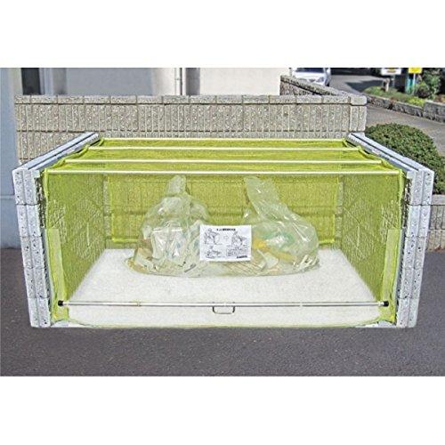 ダイケン クリーンストッカー(ネットタイプ) CKA-1612型 『ゴミ袋(45L)集積目安 42袋、世帯数目安 21世帯』 『ゴミ収集庫』『ダストボックス ゴミステーション 屋外』 黄色 B00ADZGEZC 22700