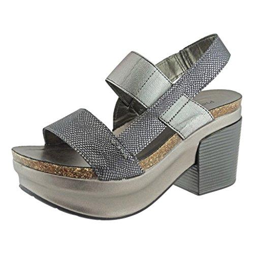 Pierre Dumas Women's Luann-1 Vegan Leather Chunky Heel Platform Sandal Snake Print (Snake Print Gladiator Sandal)