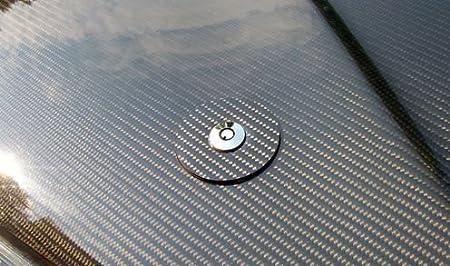 DEWHEL Universal Round JDM Mount Bonnet Hood Lock Pins Kit w//Key Color Black