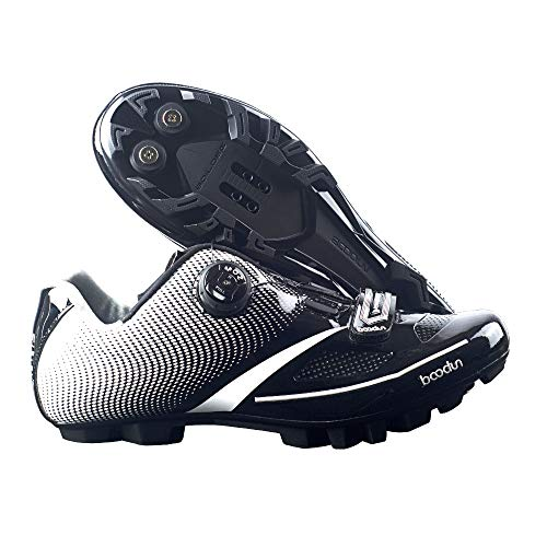 Adult's A2 MTB or Road Synthetic Cycling Shoe Mountain Bike Road Cycling Shoes Professional Racing (10 M US, A2-MTB-Black)