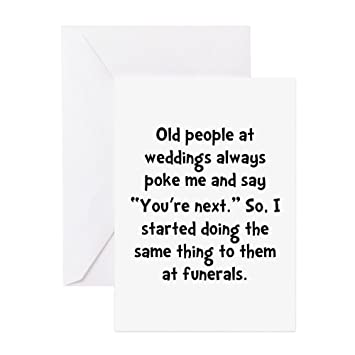 Amazon Cafepress Old People Funerals Greeting Card Note