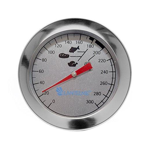 Lantelme 7443 Acero Inoxidable freidoras Termómetro y plástico termómetro de Cocina Color Blanco Set - Freidora de Grasa Termómetro Resistente al Agua: ...