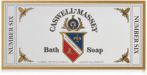 Caswell Massey Number Six Bath Soap (Box of 3 Bars at 5.8...