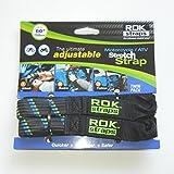 "ROK Straps 18 to 60"" Adjustable - Motorbike Black/Blue - Twin Pack"