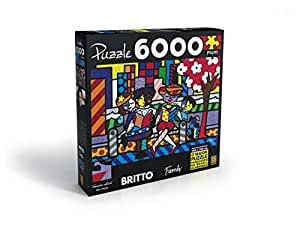 romero britto family puzzle 6 000 pieces toys games. Black Bedroom Furniture Sets. Home Design Ideas
